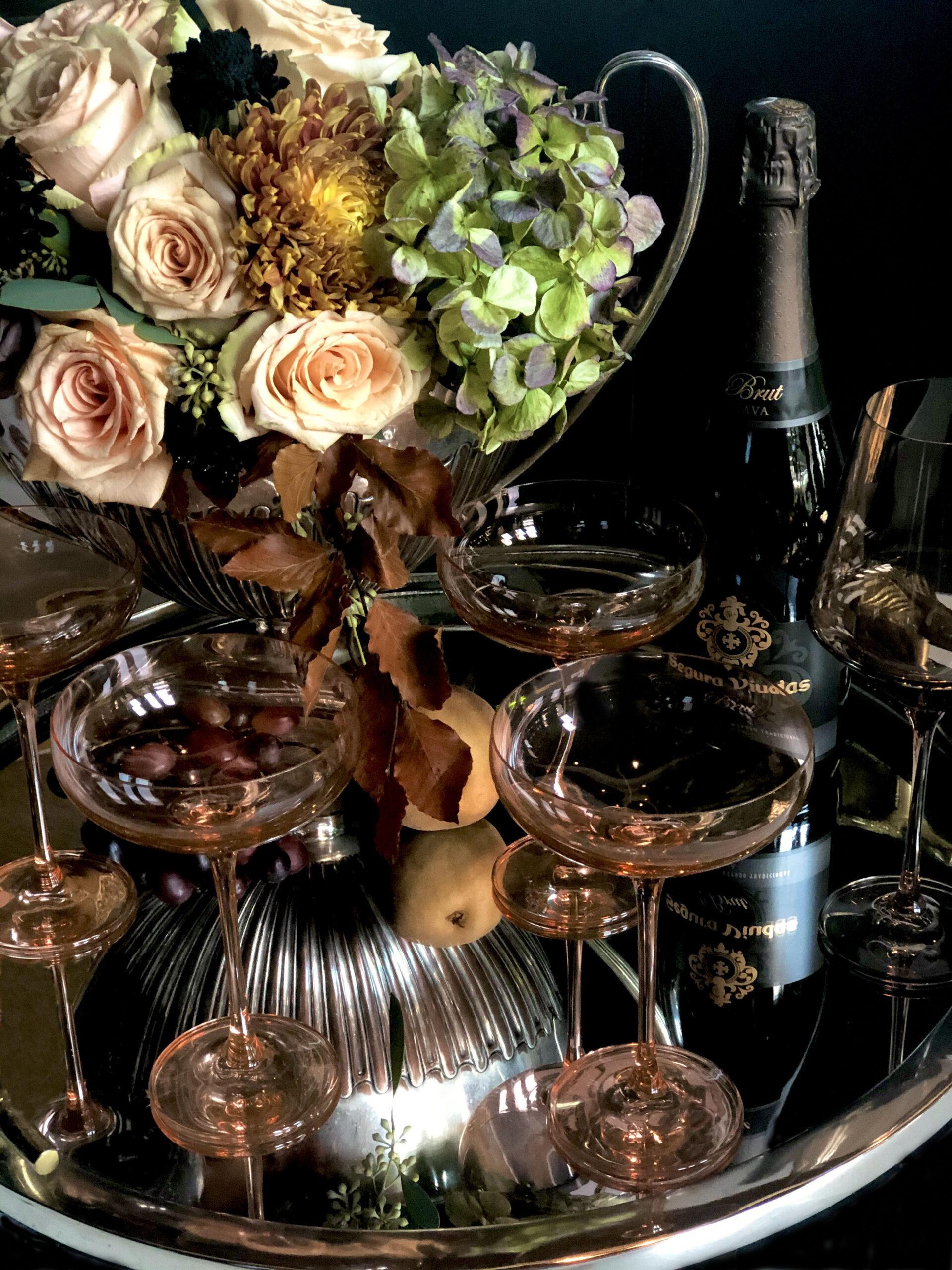 Estelle Blush Champagne Coupe