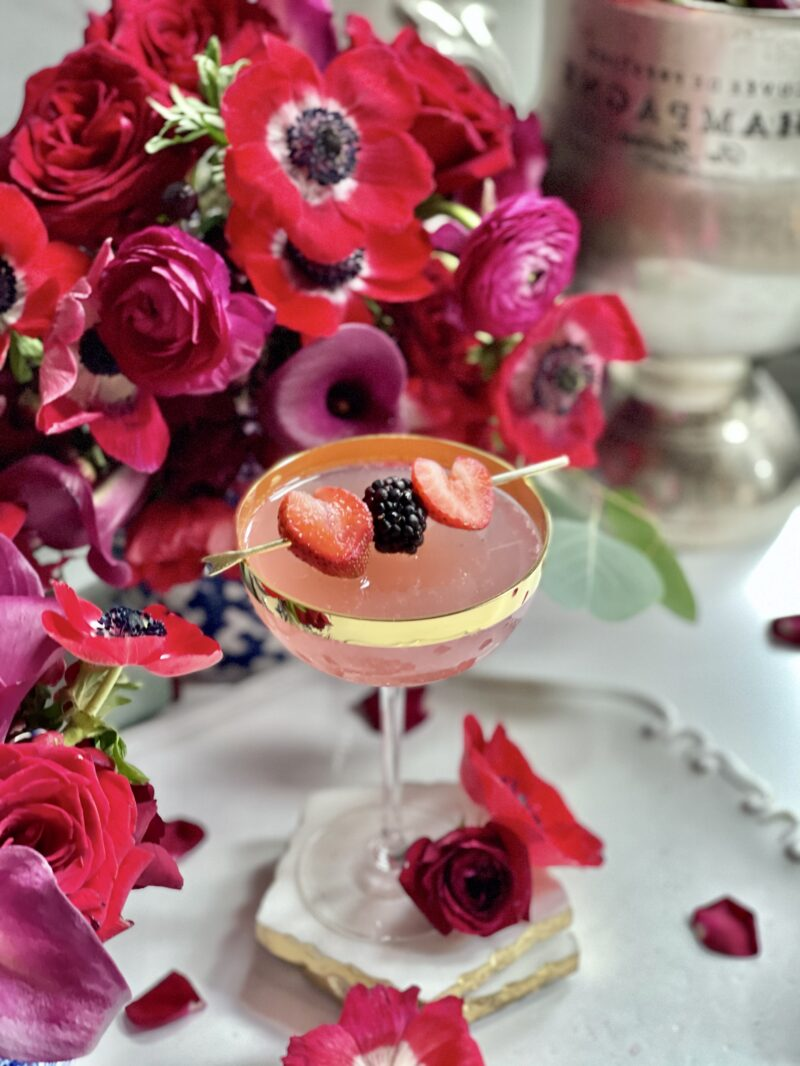 Valentine cocktail-Champagne in the Ombre