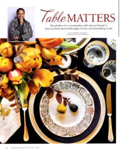 featured article in entertain and celebrate fall harvest magazine