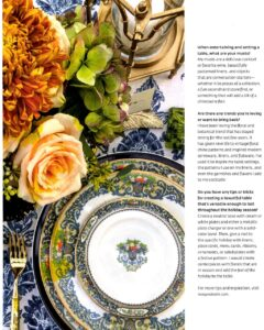 feature in entertain and celebrate fall harvest magazine