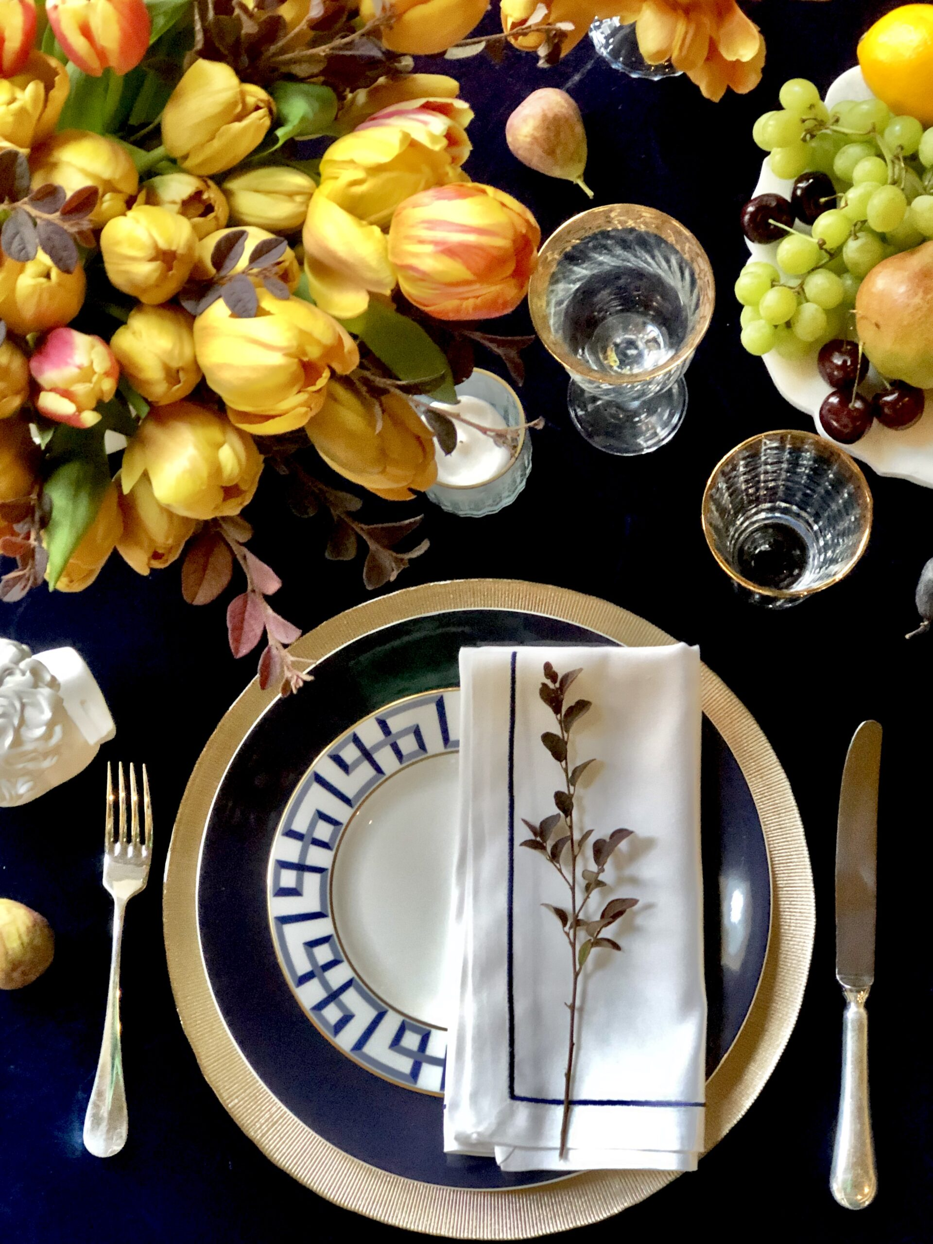 Fall Dinner Party place setting