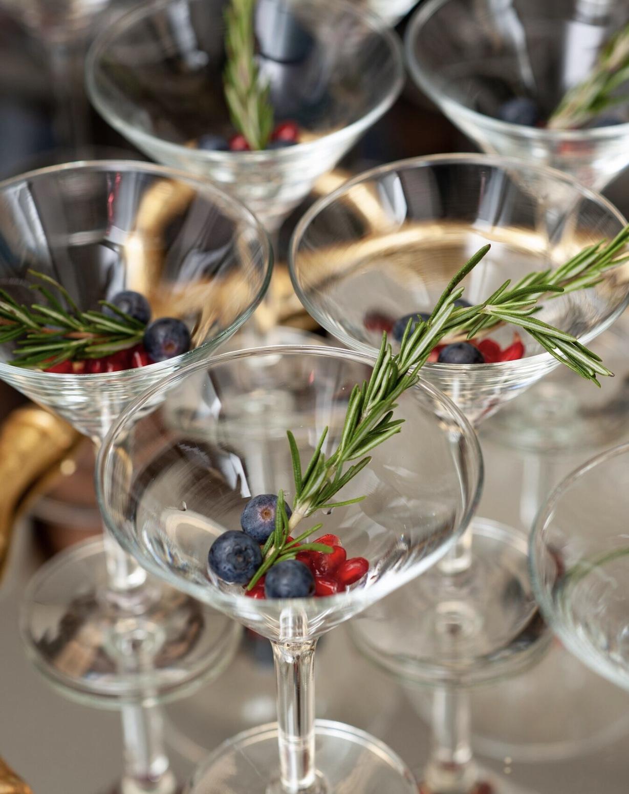 sparkling Pomogranate Spritzer Cocktail