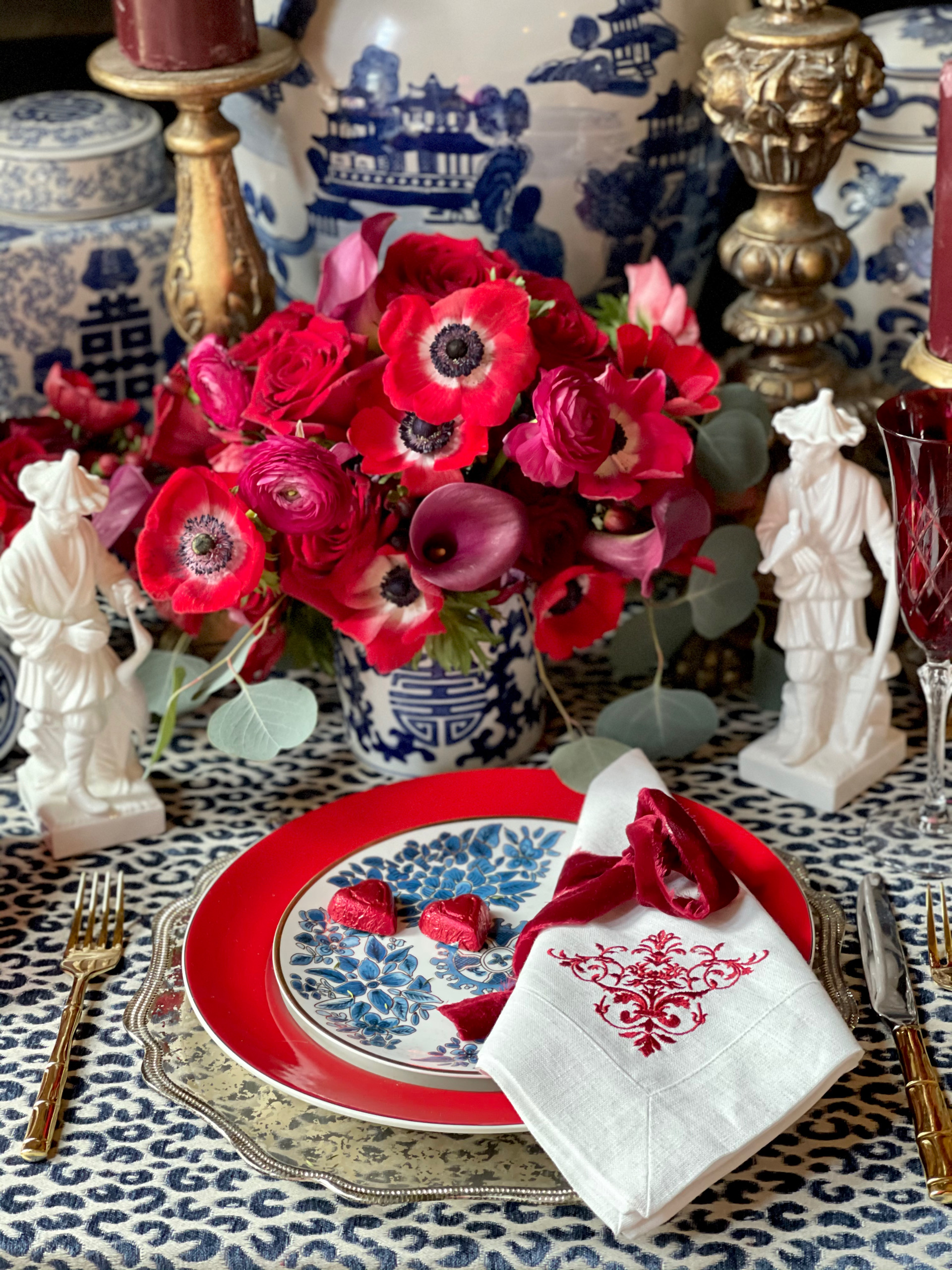 valentines day table,