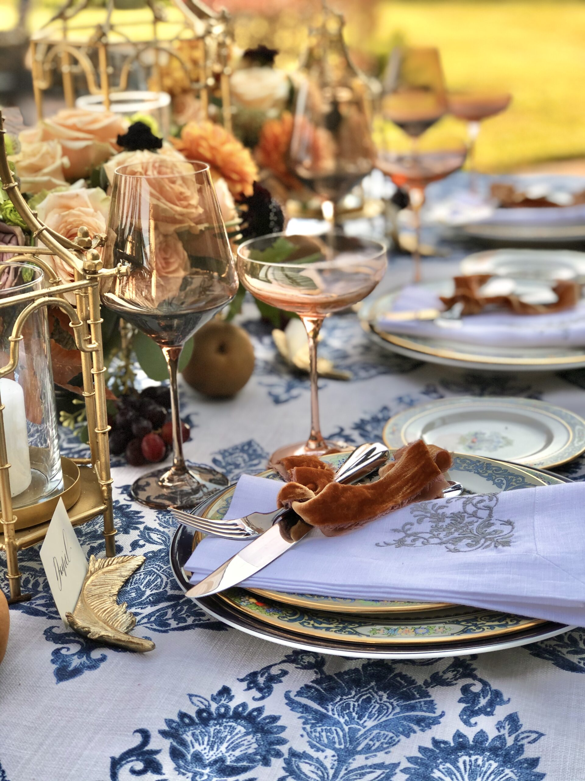 Table set with Estelle glasses from The Avenue
