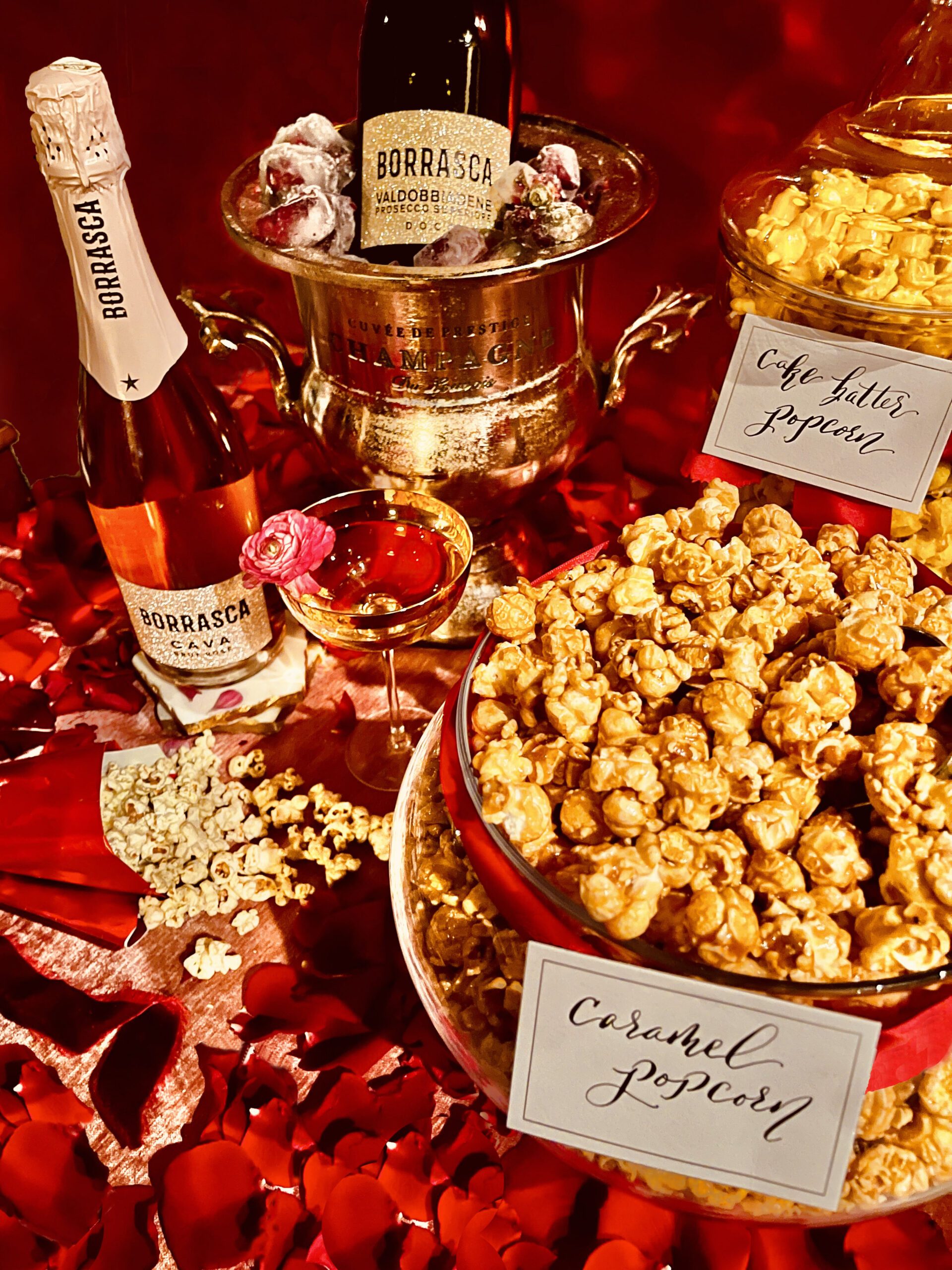 Sparkling wine and popcorn pairings