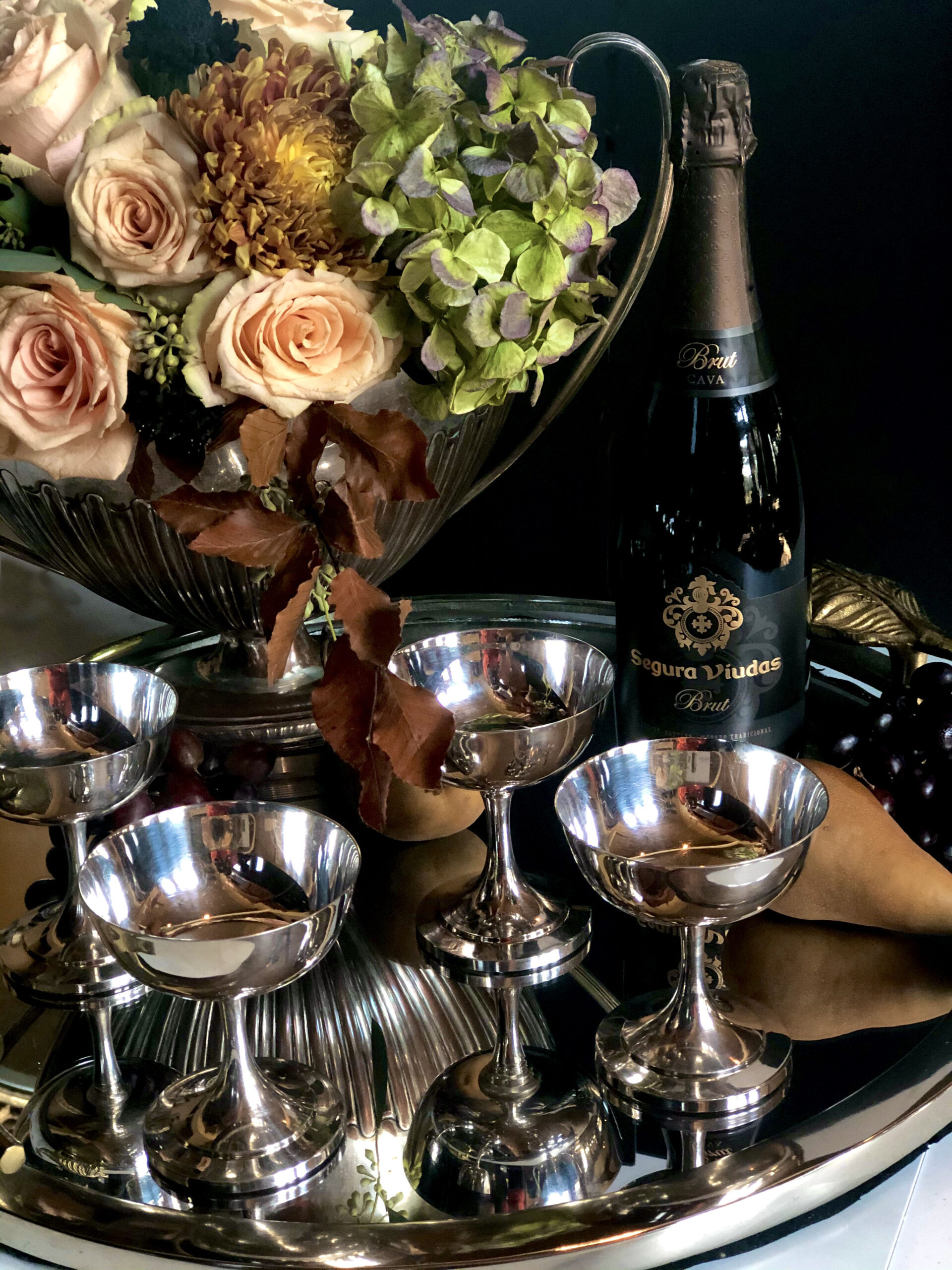 Silver champagne couple from Your Butler Pantry