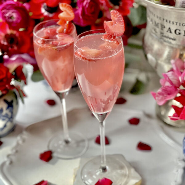 Strawberry French 75 Cocktail