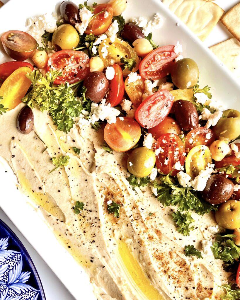 Mediterranean Loaded Hummus
