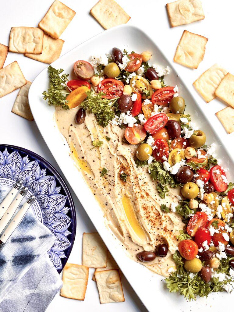 Mediterranean Loaded Hummus Platter