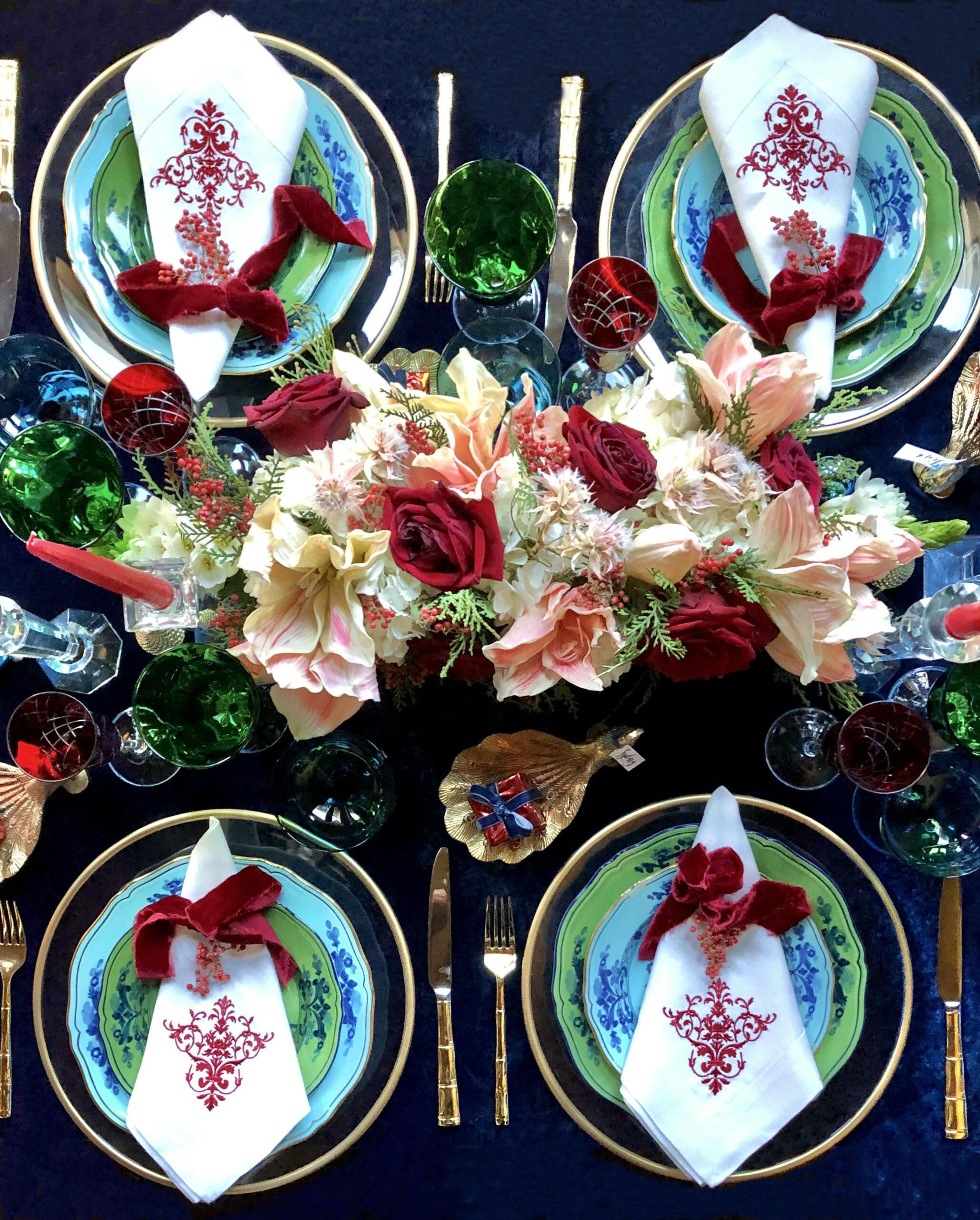 12 Tips to Set a Beautiful Christmas Table , Richard Ginori Plates